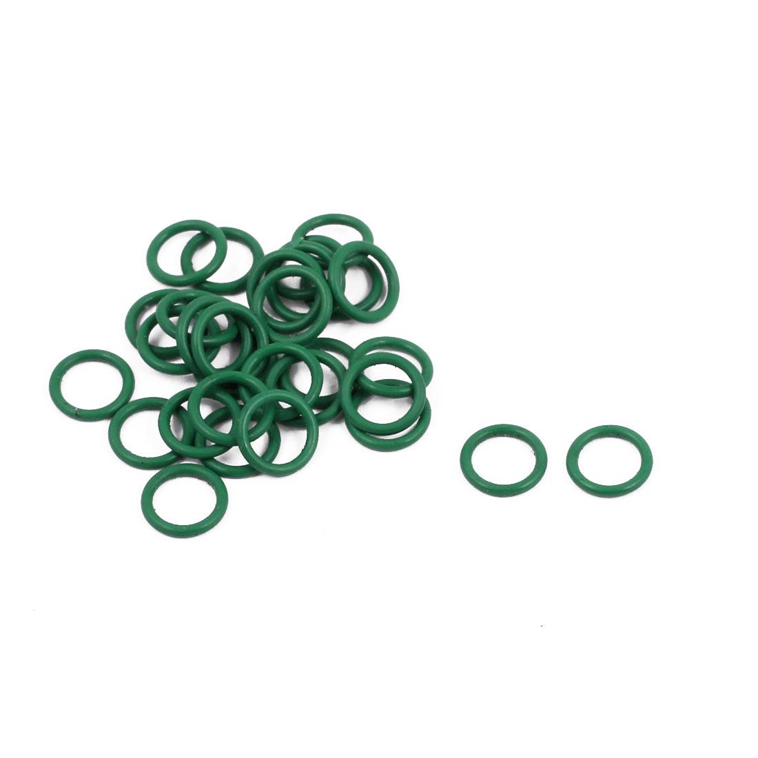30Pcs 7mm x 1mm FKM O-rings Heat Resistant Sealing Ring Grommets Green