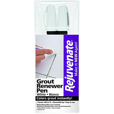 White Grout Restorer Marker Pens – Restore and Renew Dingy Stained Grout In Minutes – 2-Pack, Instantly restores color to white grout By (Best Way To Make Grout White Again)