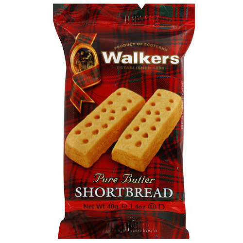Walkers Pure Butter Shortbread Cookies, 1.4 oz (Pack of 24)