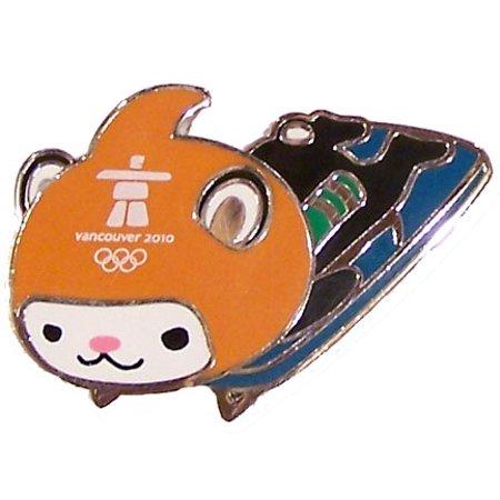 (Vancouver 2010 Olympics Miga Skeleton Pin)