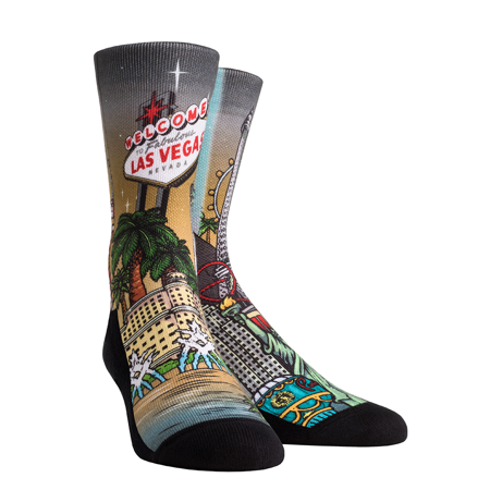 Rock Em Elite City - Las Vegas Landmark Crew Socks