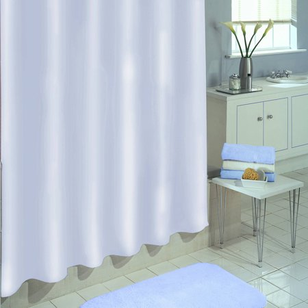 Excell Medium Weight Eco Friendly 100 Percent PEVA Shower Curtain Liner Anti Mildew 70 X 72 White
