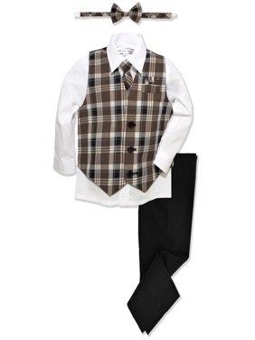 Johnnie Lene Boys Formal Plaid Dresswear Vest Set JL46
