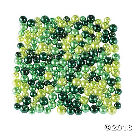 St. Patrick's Day Green Pearl Bead Assortment 6mm - 8mm](St Patrick's Day Beads)