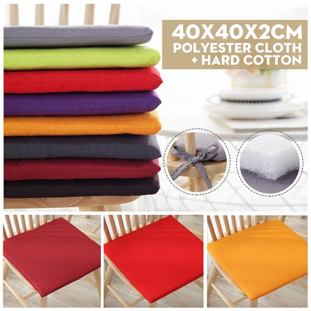 Seat Cushions Dining Chairs - 4PCS Chair Seat Pads Cushion Sit Mat With Tie For Dining Garden Office Park Various colors 40x40x2cm