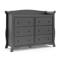 Storkcraft Avalon 6 Drawer Universal Dresser, Espresso