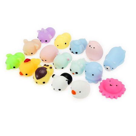 16PCS Mini Animals Squishy Soft Slow Rising Toys Stress Relief Toys Paw Bear Cat Home Bedroom Decor Birthday New Year Gifts For Adult Kid