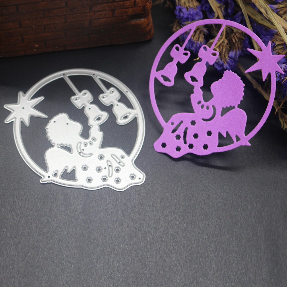 Merry Christmas Metal Cutting Dies Stencils Scrapbooking Embossing DIY Crafts E