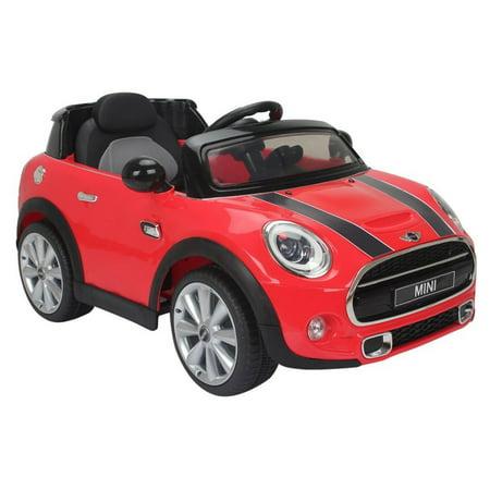 licensed mini cooper 12v battery powered ride on kids car red remote control. Black Bedroom Furniture Sets. Home Design Ideas