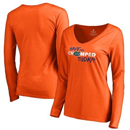 Florida Gators Fanatics Branded Women's Have You Chomped Today V-Neck Long Sleeve T-Shirt - Orange](Gator Chomp)