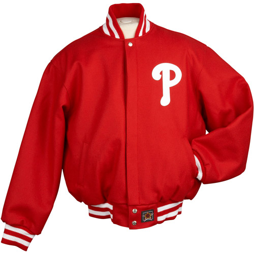 JH Designs - Men's MLB Philadelphia Phillies Wool Jacket