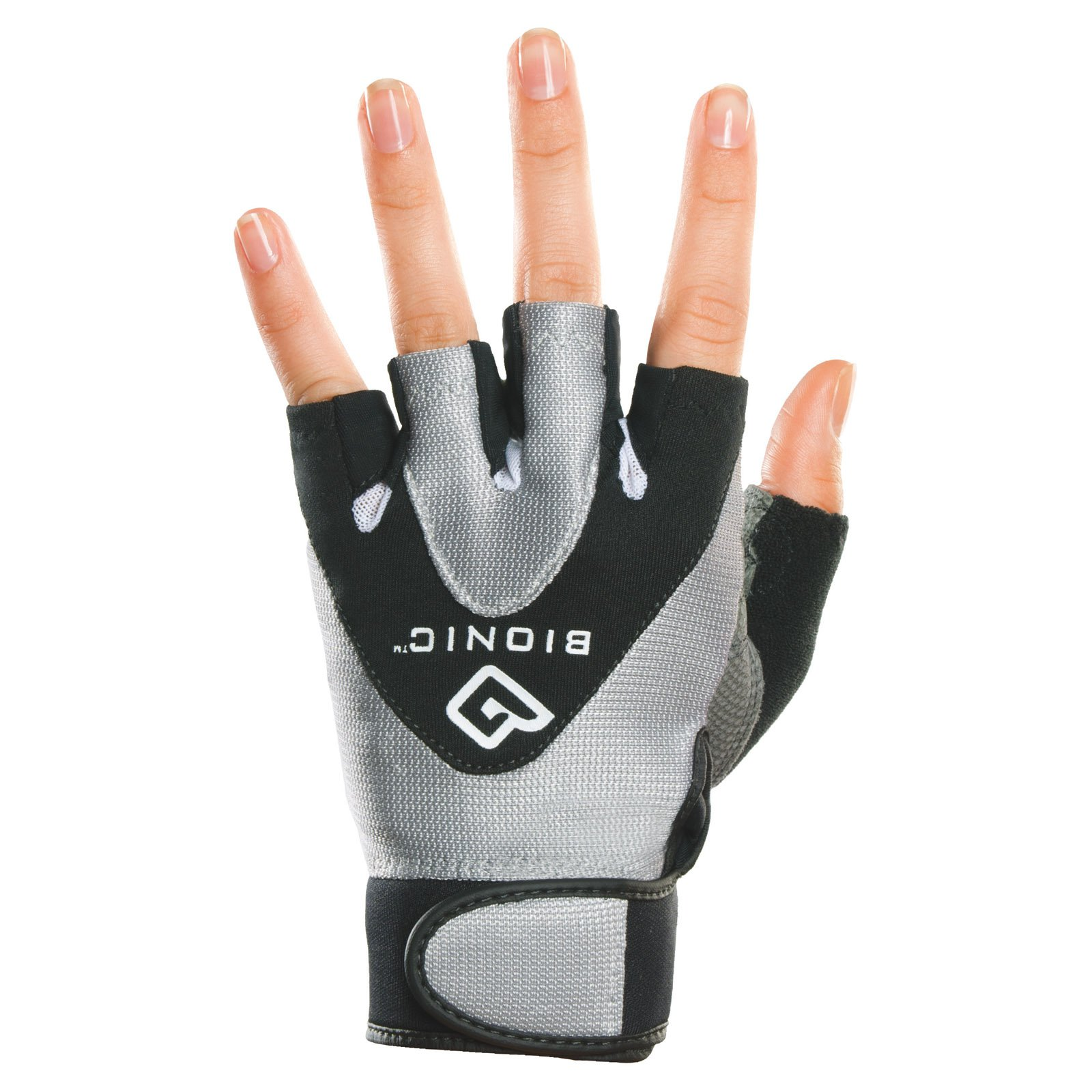 Bionic Womens StableGrip Half-Finger Fitness Gloves - Large