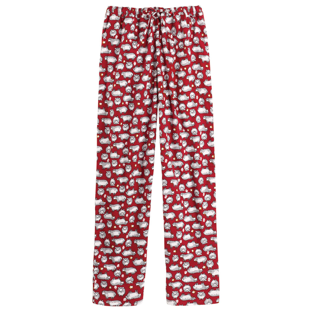 Women's Sheep Dreams Flannel Pajama - Funny Lounge Pants And Shirt