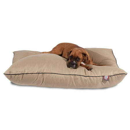 Majestic Pet Super Value Machine Washable Pet Dog Bed, Large, Khaki