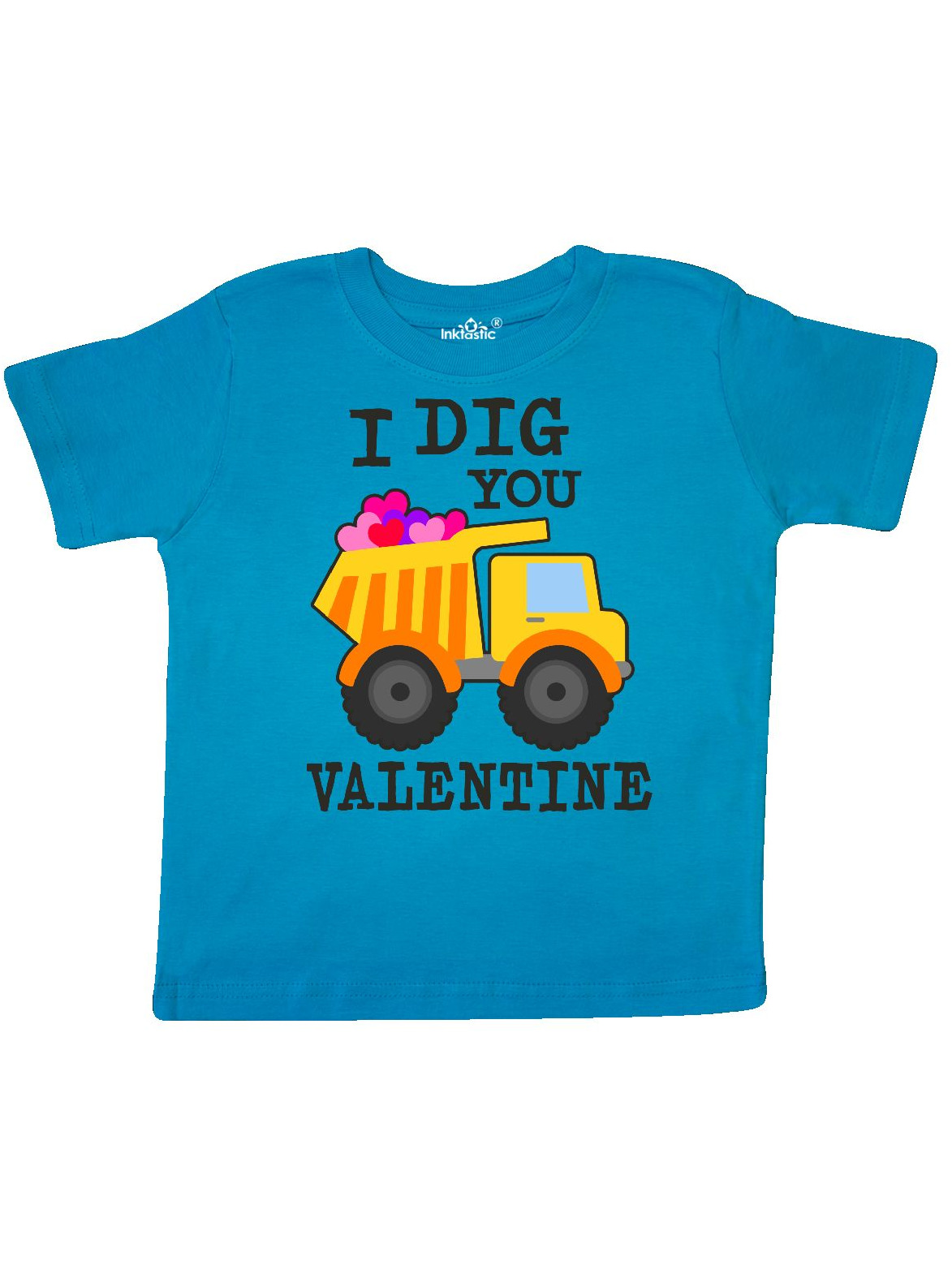 I Dig You Valentine with Truck and Hearts Toddler T-Shirt