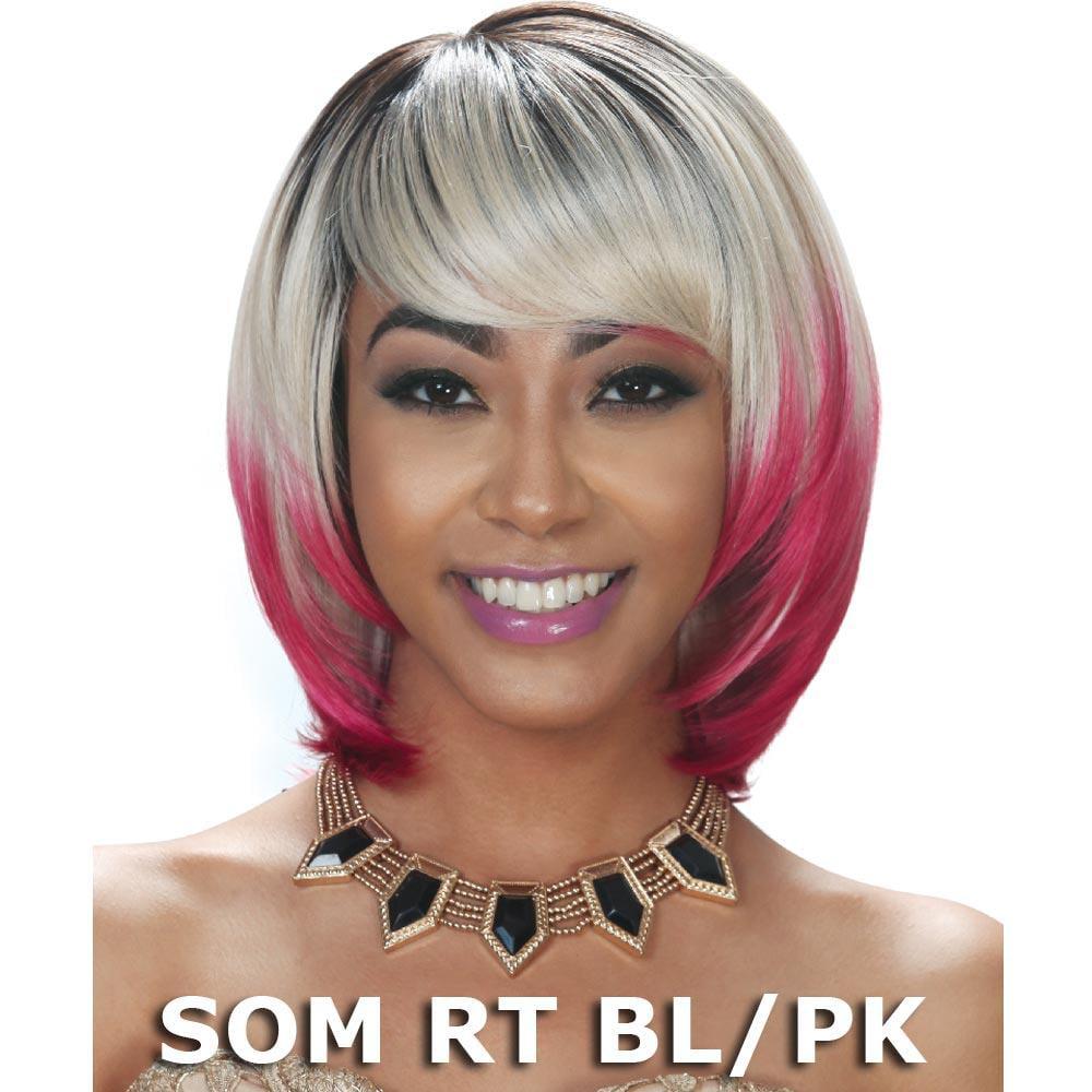 Sis Slay Futura Synthetic Hair Full Wig - SENA (SOM RT BL/PK)