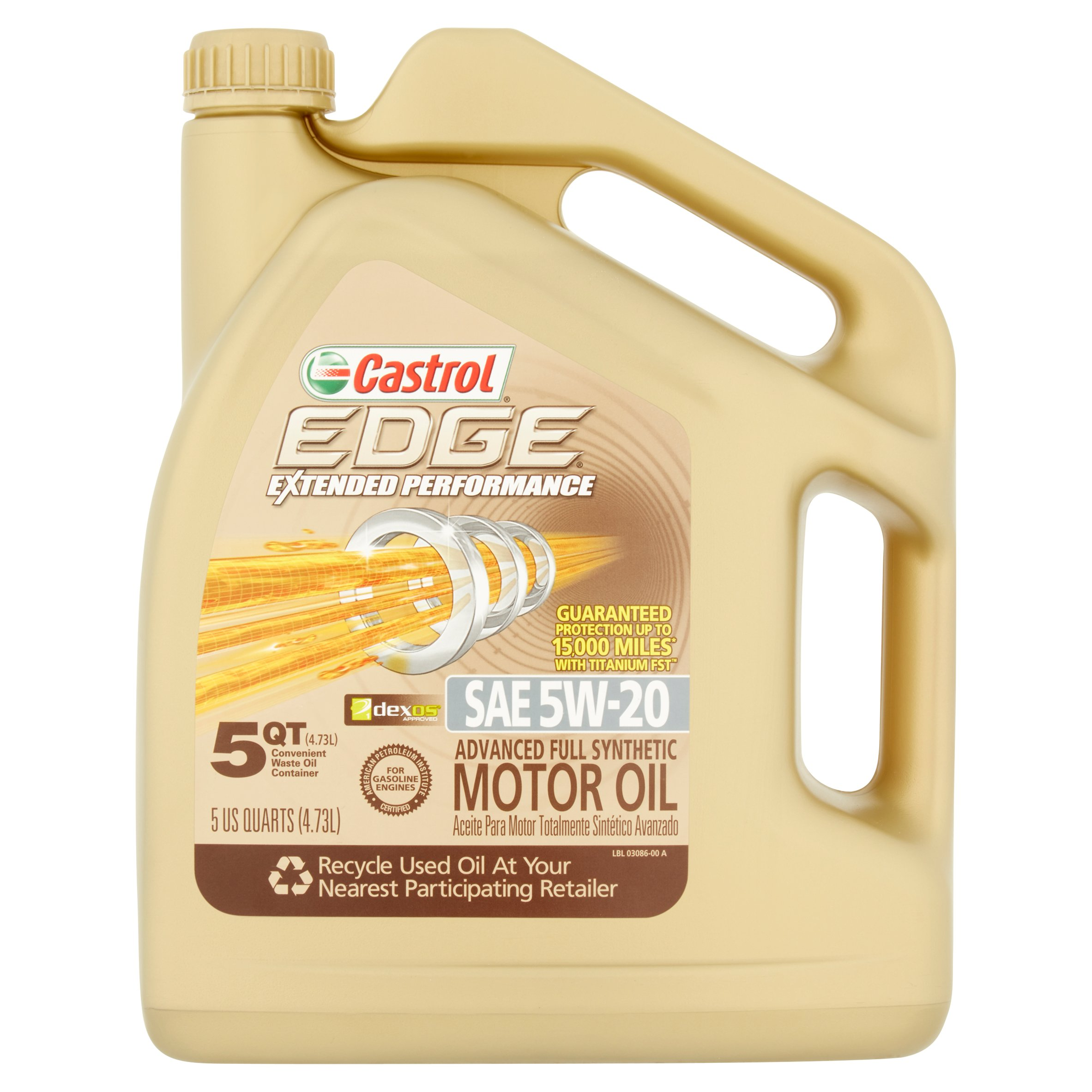 Castrol EDGE Extended Performance 5W-20 Full Synthetic Motor Oil, 5 qt. by Castrol