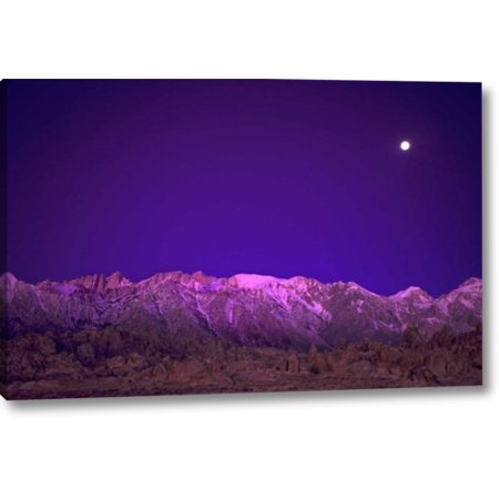 Over The Moon Designs (Ebern Designs 'CA, Alabama Hills Moon over the Eastern Sierras' Photographic Print on Wrapped Canvas)