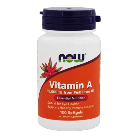 NOW Foods - Vitamine A 25000 UI - 100 Gélules