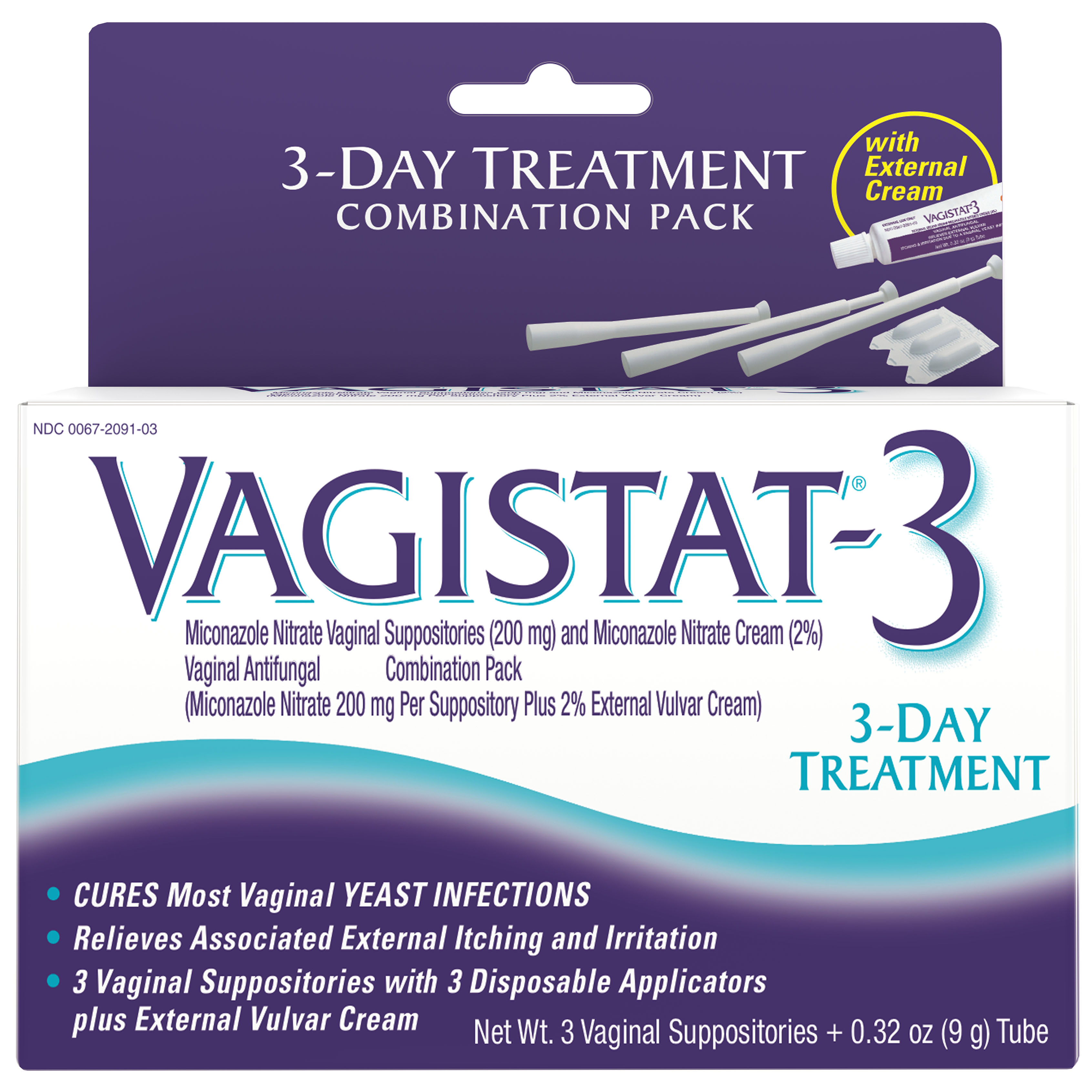 Lovely Vagistat 3 Suppositories For Yeast Infections, 3 Day Treatment