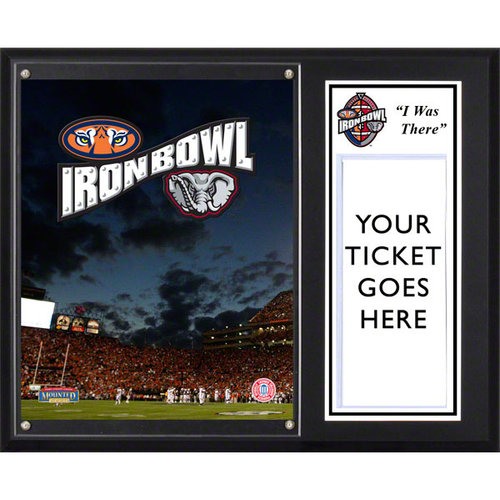 """NCAA - 2011 Iron Bowl Sublimated 12x15 """"I WAS THERE"""" Ticket Plaque 