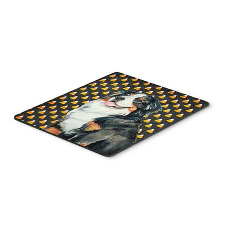 Bernese Mountain Dog Candy Corn Halloween Portrait Mouse Pad, Hot Pad or Trivet](Hot Dog Spaghetti Halloween)