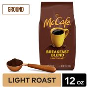 McCafe Breakfast Blend Ground Coffee, Medium Roast, 12 oz Bagged