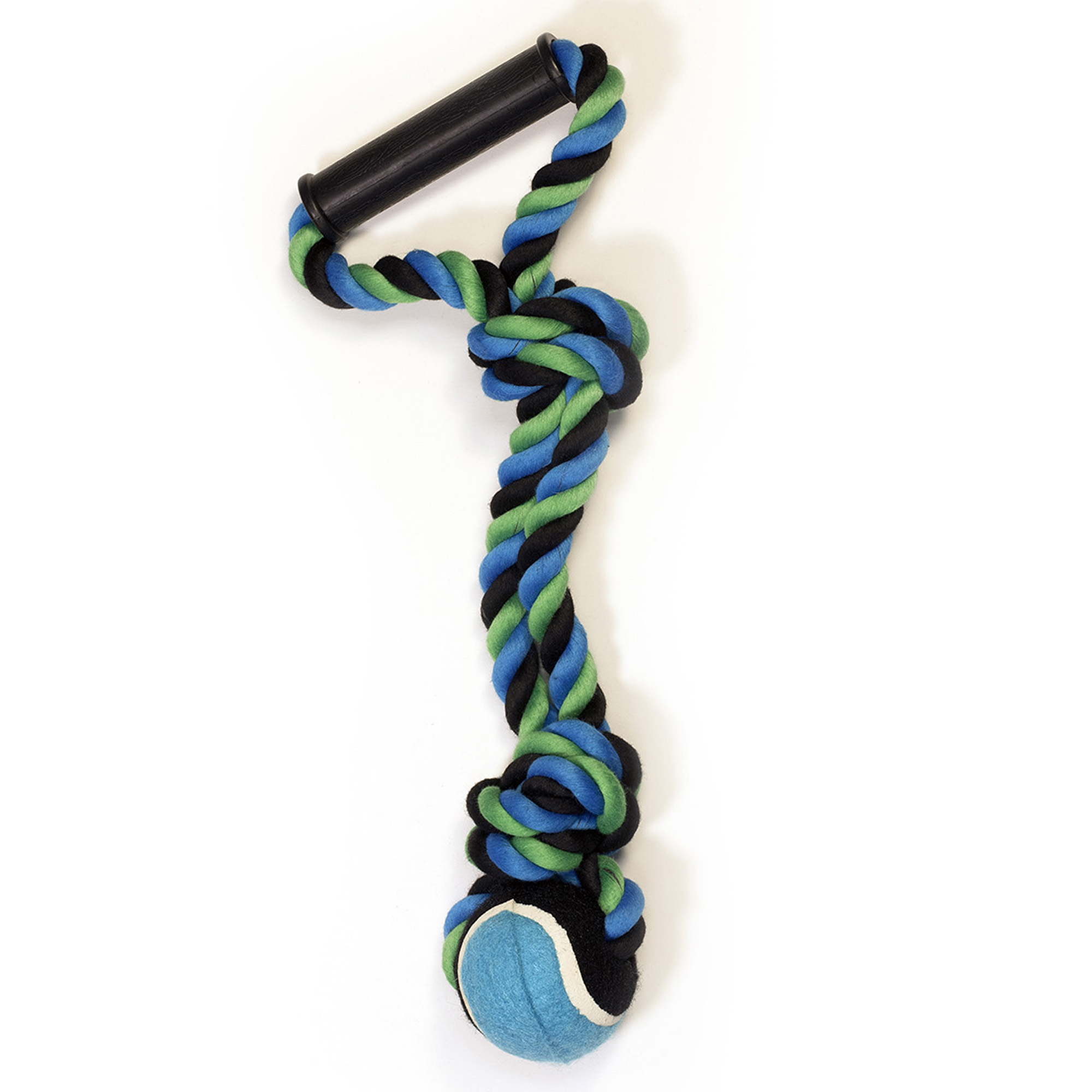 Pet Champion 2 Knot Medium Dog Rope Toy with Ball and Handle