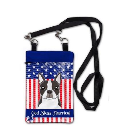 Boston Terrier Purse - American Flag and Boston Terrier Crossbody Bag Purse BB2133OBDY