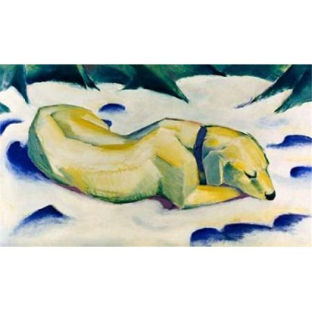 Bentley Global Arts PDX278399SMALL The Hound - Weiber Hund Poster Print by Franz Marc, 12 x 18 - Small - image 1 of 1