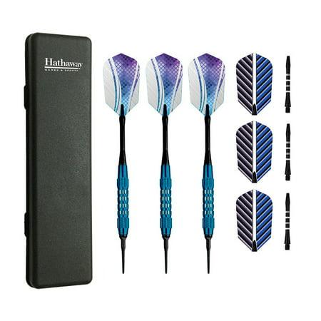 Plastic Broadhead Darts - Hathaway Galaxy Soft Tip Darts - Set of 3