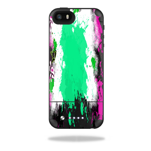 Mightyskins Protective Skin Decal Cover for Mophie Space Pack iPhone SE/5s/5 Case wrap sticker skins Paint Splatter