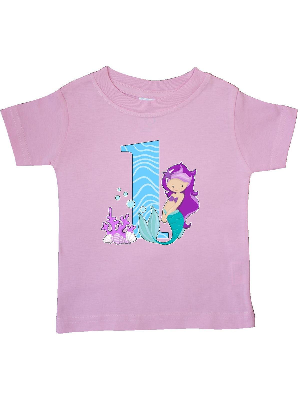 First Birthday- mermaid Baby T-Shirt
