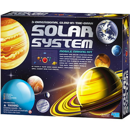 4M 3D Glow-In-The-Dark Solar System Model Making Science Kit, STEM](Science 4 Kids)