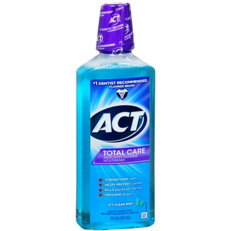 2 Pack - Total Care Anticavity Fluoride Mouthwash Icy Clean Mint 18 -
