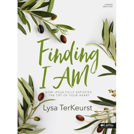 Finding I AM - Bible Study Book : How Jesus Fully Satisfies the Cry of Your Heart What is the deep cry of your heart? The ache in your soul that keeps you up at night? The prayer you keep repeating? Jesus not only cares about this deep, spiritual wrestling, but He also wants to step in and see you through it.  Join Lysa TerKeurst on the streets of Israel to explore the seven I AM statements of Jesus found in the Gospel of John. Through this in-depth study, you will tradefeelings of emptiness and depletion for the fullness of knowing who Jesus is like never before.Features:  Leader helps to guide questions and discussions within small groups  Five weeks of personal study segments to complete between six weeks of group sessions  Four days, with an optional fifth day, of study within each week of personal study Benefits:  Find freedom in difficult circumstances by learning how to shift from slave mentality to set free mentality  Discover how Jesus is the key to satisfaction by learning the crucial significance behind each of His I AM statements  Trade feelings of emptiness for the fullness of knowing who Jesus is  Grow in biblical literacy with this exploration of the Gospel of John