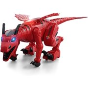 YARMOSHI Battery Operated Walking Dragon Robot Toy for Boys and Girls Age 3+