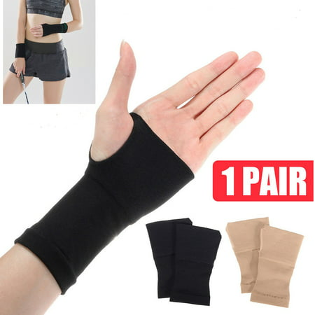 2Pcs Carpal Tunnel Thumb Hand Wrist Brace Support Arthritis Compression Bandage Gloves Gym Arthritis Sprain Strain Brace S M L XL 2XL ()