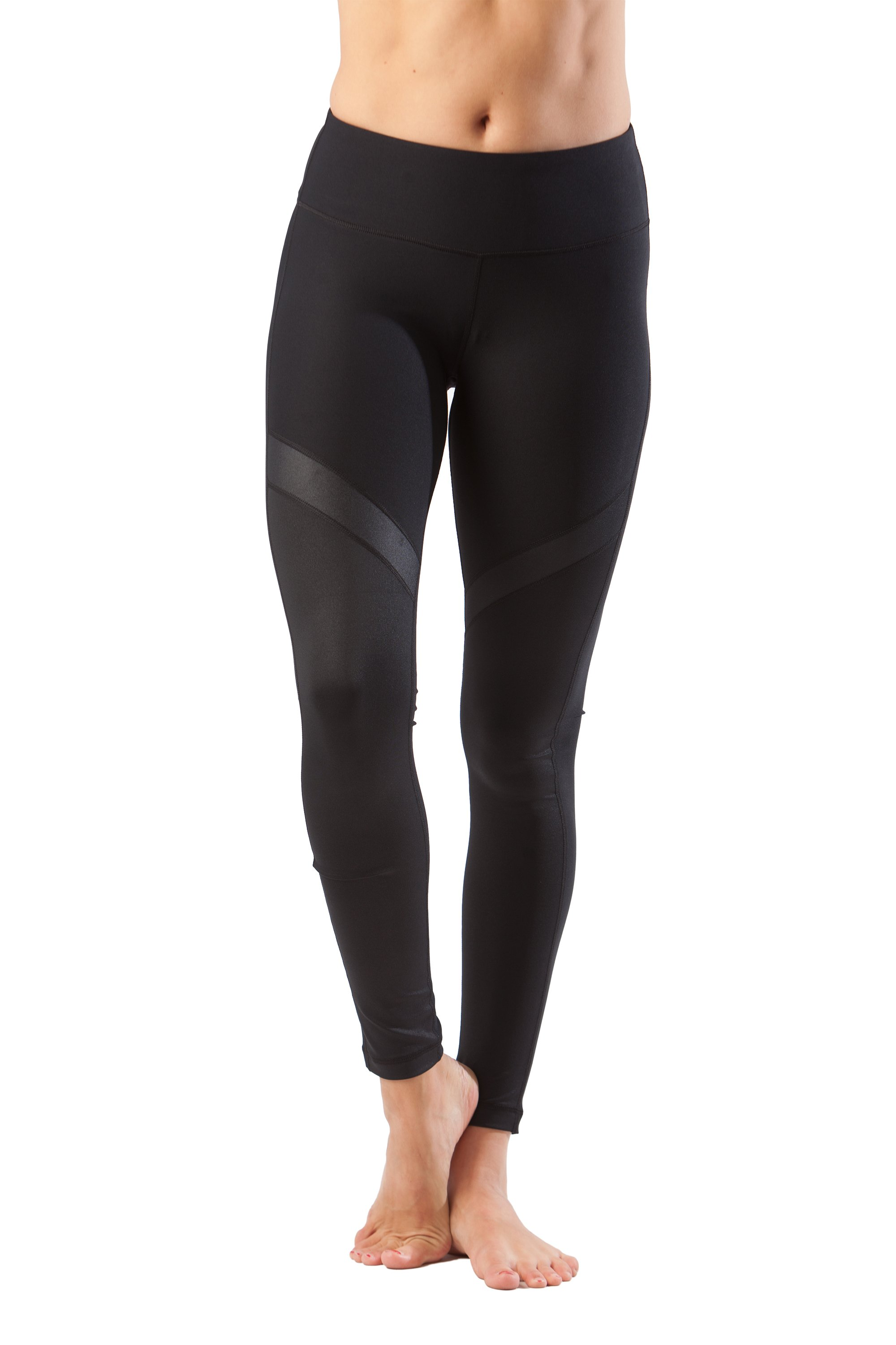 90 Degree By Reflex - Shimmer Mesh Contrast Leggings