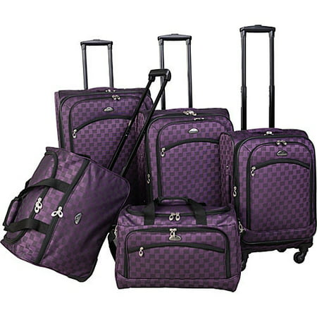 (American Flyer Madrid 5-Piece Spinner Luggage Set)