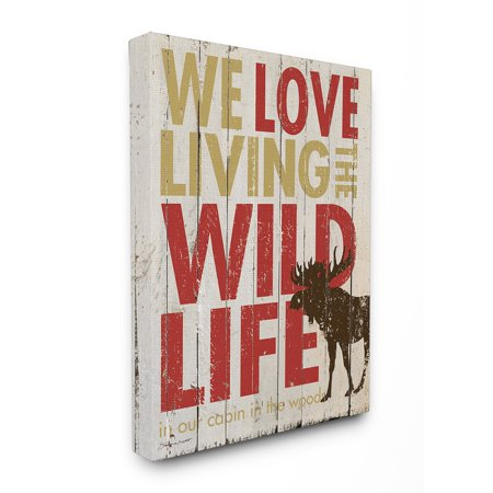 The Stupell Home Decor Collection Love Living The Wild Life Canvas Wall Art
