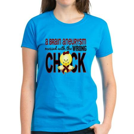 7e821ba38bdd CafePress - CafePress - Brain Aneurysm Wrong Chick 1 T Shirt - Women s Dark  T-Shirt - Walmart.com