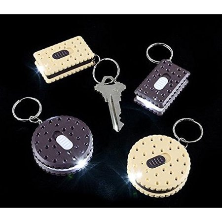 WHOLESALE LOT OF 50 COOKIE LED SUPER BRIGHT FLASHLIGHT KEY CHAINS BY, WHOLESALE LOT OF 50 BRIGHT LED FLASHLIGHTS By DISCOUNT PARTY AND NOVELTY (Novelty Flashlights)