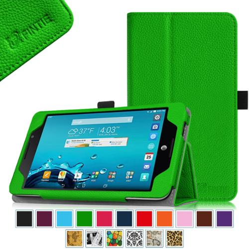 AT&T ASUS MeMo Pad 7 LTE GoPhone Prepaid Tablet Case - Fintie Folio  Smart Cover with Auto Sleep / Wake Feature, Green