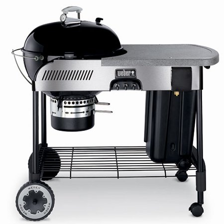 weber performer 22 5 charcoal grill with gas ignition black. Black Bedroom Furniture Sets. Home Design Ideas