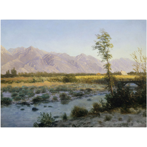 "Trademark Fine Art ""Prairie Landscape"" Canvas Art by Albert Bierstadt"