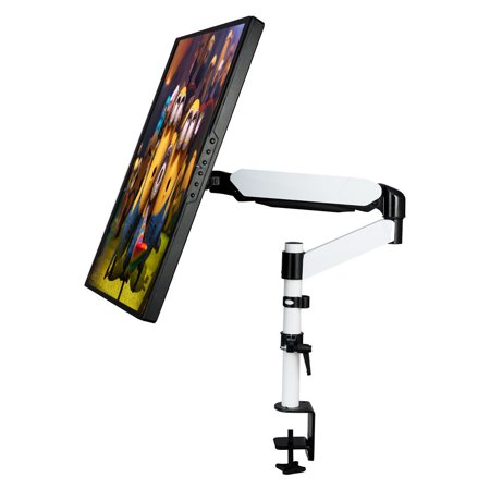 Goplus Spring Arm LCD Computer Screen Monitor Bracket Desk Mount Stand Swivel Up To 27''