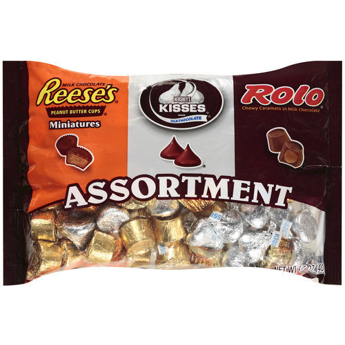 Reese's Miniatures/Kisses/Rolo Caramels Candy Assortment, 17 oz