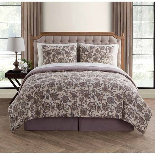 VCNY Home Avon 6/8-Piece Floral Bed in a Bag Comforter Set, Sheet Set Included
