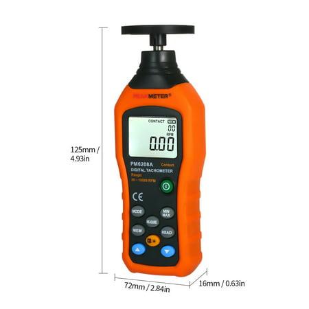 PEAKMETER Tachymètre numérique Tachymètre avec moteur à contact à cristaux liquides Compteur de vitesse LCD Compteur de vitesse tachymètre Compteur tachymètre numérique à contact large Plage de mesure - image 7 of 7